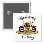 Thanksgiving Birthday Badges