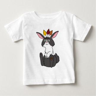 Thanksgiving Black & White Rabbit with Headdress Shirt