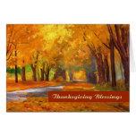 Thanksgiving Blessings. Fine Art Greeting Card