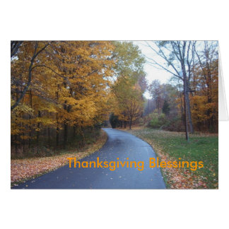 Thanksgiving Blessings Note Card