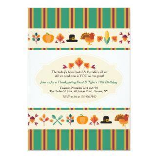 Thanksgiving Borders Invitation