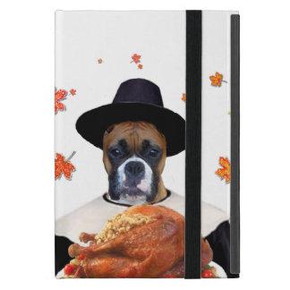 Thanksgiving Boxer dog Cases For iPad Mini