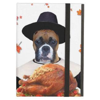 Thanksgiving Boxer dog iPad Air Cases