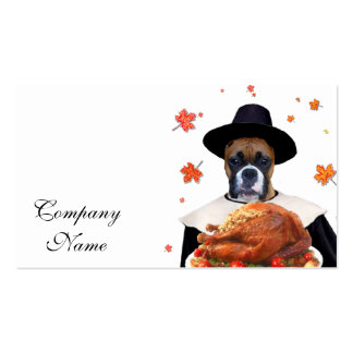 Thanksgiving Boxer dog Pack Of Standard Business Cards