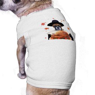 Thanksgiving Boxer Dog Sleeveless Dog Shirt
