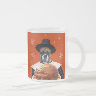Thanksgiving boxer frosted mug