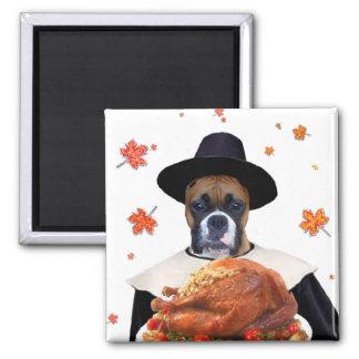 Thanksgiving boxer magnet