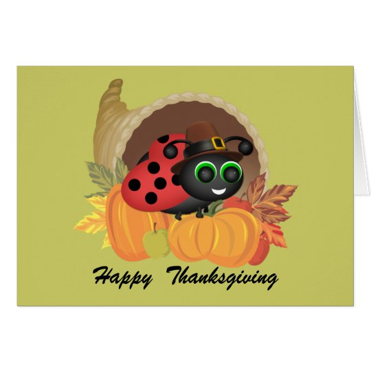 Thanksgiving Bug Card