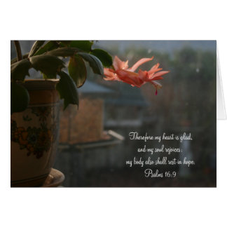 Thanksgiving Cactus with Peach Colored Flower Card