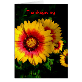 Thanksgiving Card, Cheerful Bright Yellow Flowers Card
