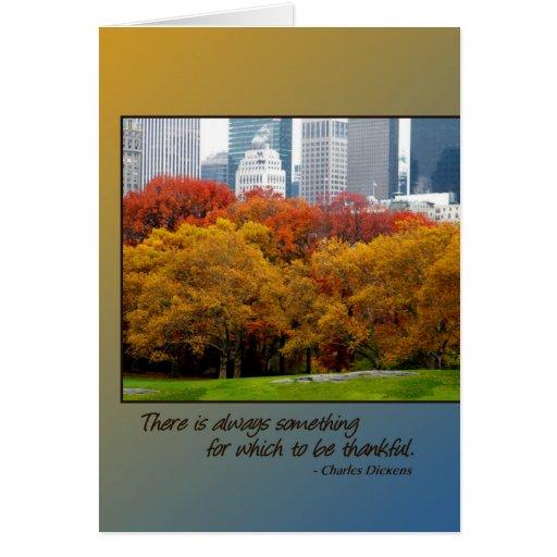 Thanksgiving card Fall Colors Central Park NY Big