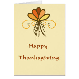 Thanksgiving Card in a Fall Design