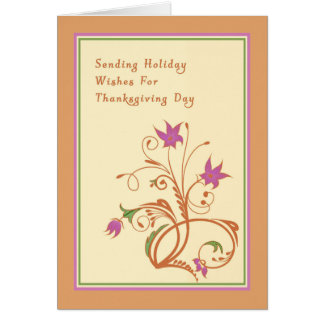Thanksgiving Card with a Floral Design