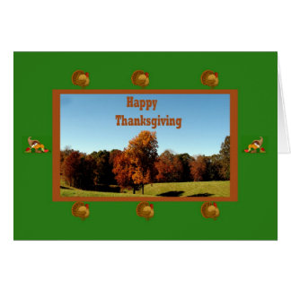 Thanksgiving Card  With Rural Mississippi Theme