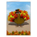 Thanksgiving Cartoon Turkey Pilgrim Cards