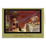 Thanksgiving Cat Card