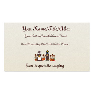 Thanksgiving Cats Pack Of Standard Business Cards