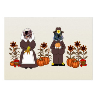 Thanksgiving Cats Pack Of Chubby Business Cards