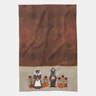 Thanksgiving Cats Tea Towel