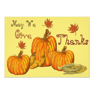 Thanksgiving Celebration 13 Cm X 18 Cm Invitation Card