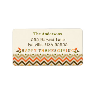 Thanksgiving Chevron Address Labels
