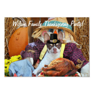 Thanksgiving chihuahua party invitations