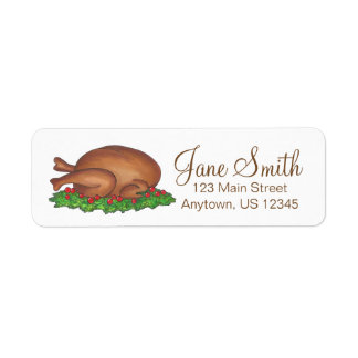 Thanksgiving Christmas Turkey Address Labels