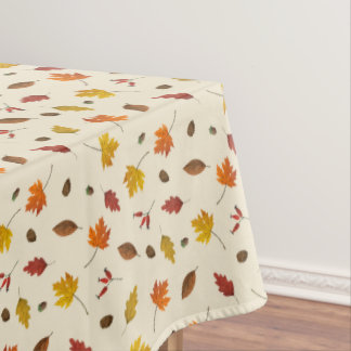 Thanksgiving Colorful Fall Leaves Tablecloth