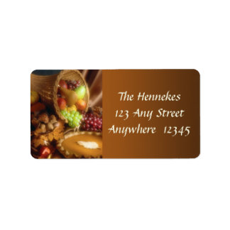 Thanksgiving Comes Again Address Label