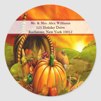 Thanksgiving Cornucopia Address labels