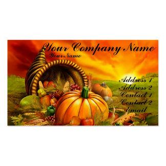 Thanksgiving Cornucopia Business Card
