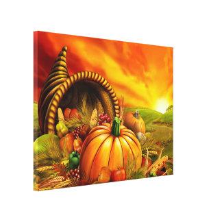 Thanksgiving Cornucopia Canvas Print