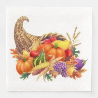 Thanksgiving Cornucopia Dinner Napkins Paper Napkin