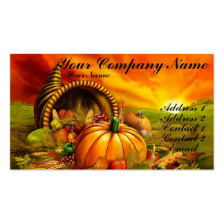 Thanksgiving Cornucopia Pack Of Standard Business Cards