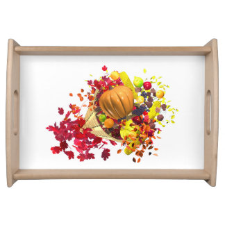 Thanksgiving Cornucopia Serving Tray