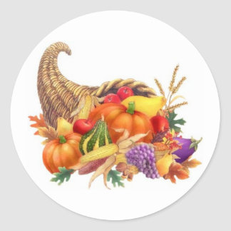 Thanksgiving Cornucopia Sticker