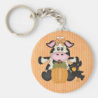 Thanksgiving Cow keychain