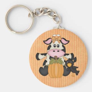 Thanksgiving Cow keychain