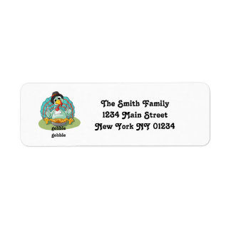 Thanksgiving Cute Turkey Pie Return Address Label