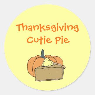 Thanksgiving Cutie Classic Round Sticker