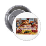 Thanksgiving Dachshunds Button