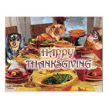 Thanksgiving Dachshunds 11 Cm X 14 Cm Invitation Card