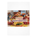 Thanksgiving Dachshunds Stationery Paper