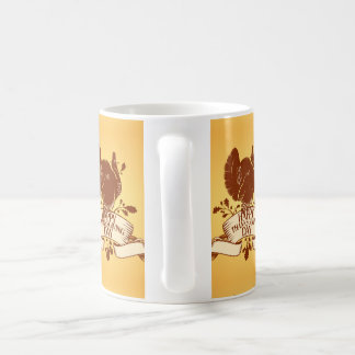 Thanksgiving Day Design With Turkey And Ribbon Coffee Mug