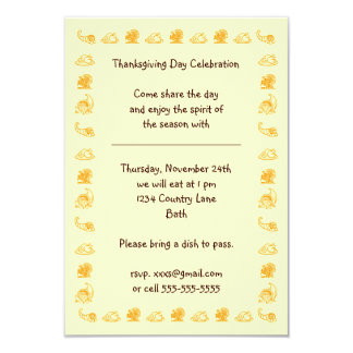 thanksgiving day invitation