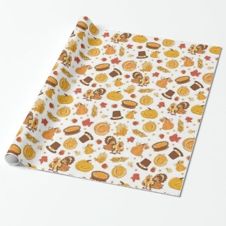 Thanksgiving Day Pattern Wrapping Paper