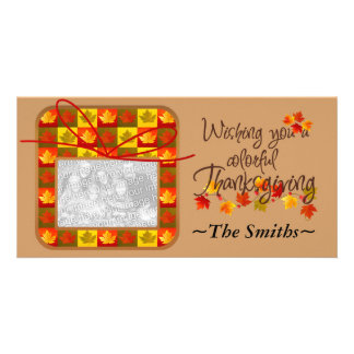 Thanksgiving Day Personalized Personalized Photo Card