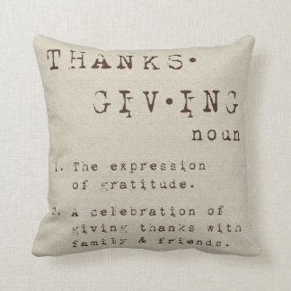 Thanksgiving Definition Pillow