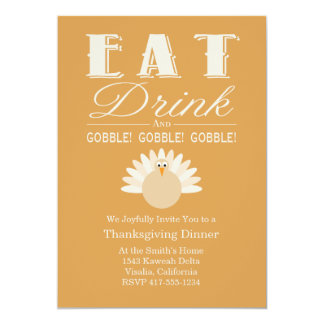 Thanksgiving Invitations Announcements Zazzlecouk