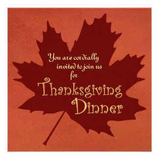 Thanksgiving Dinner Personalized Announcements
